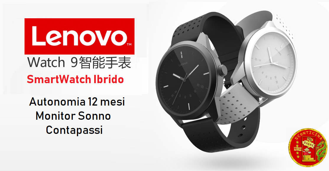 Lenovo Watch 9: Smartwatch ibrido low-cost in offerta lampo