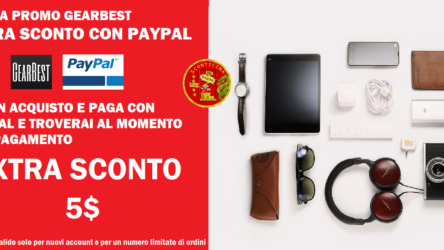 NUOVA PROMO GEARBEST: Extra Sconto se Paghi con PAYPAL